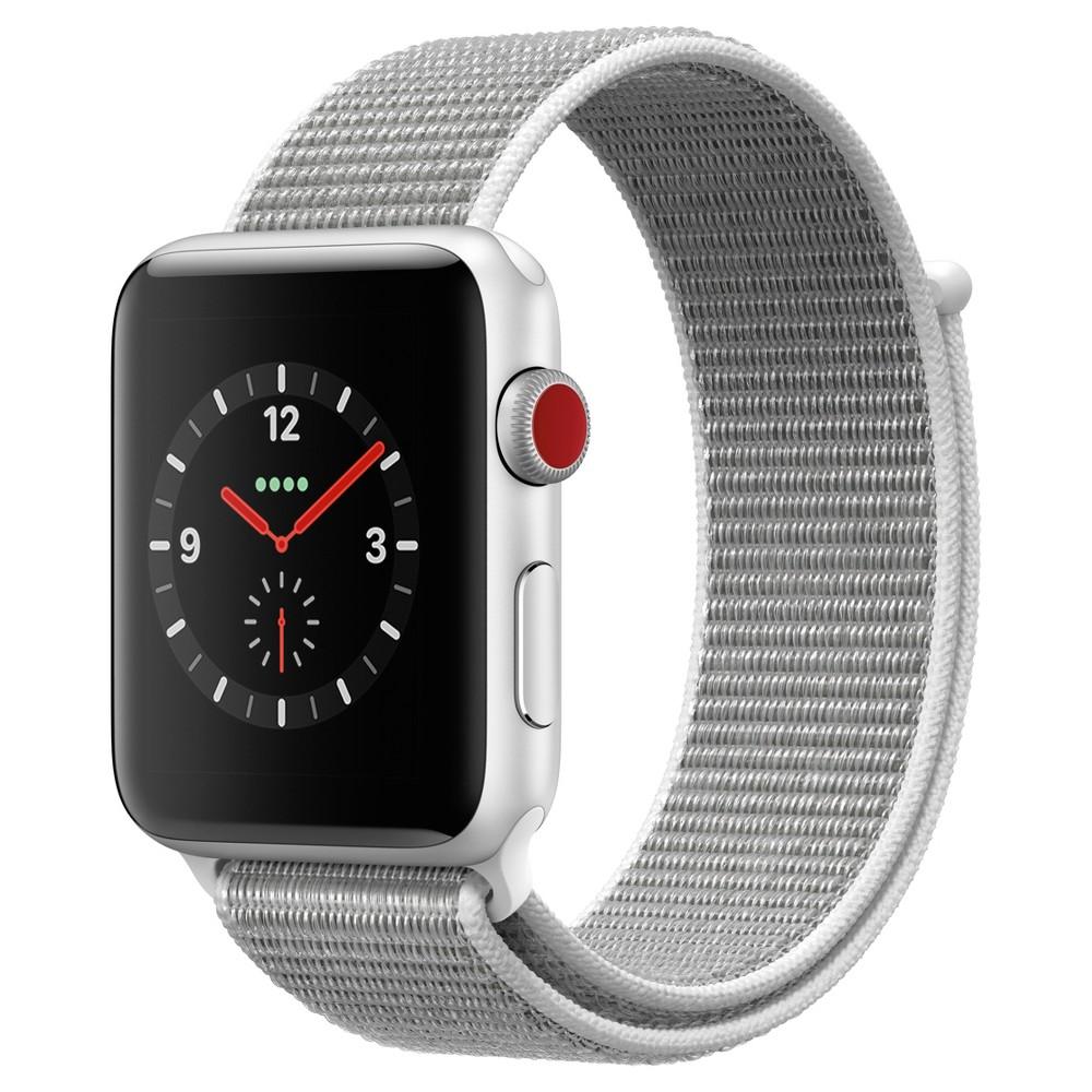 Apple Watch Series 3 42mm (Gps + Cellular) Aluminum Case Nylon Sport Loop Band - Seashell