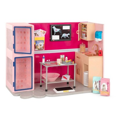 "Our Generation Healthy Paws Vet Clinic Playset in Pink with Electronics for 18"" Dolls"