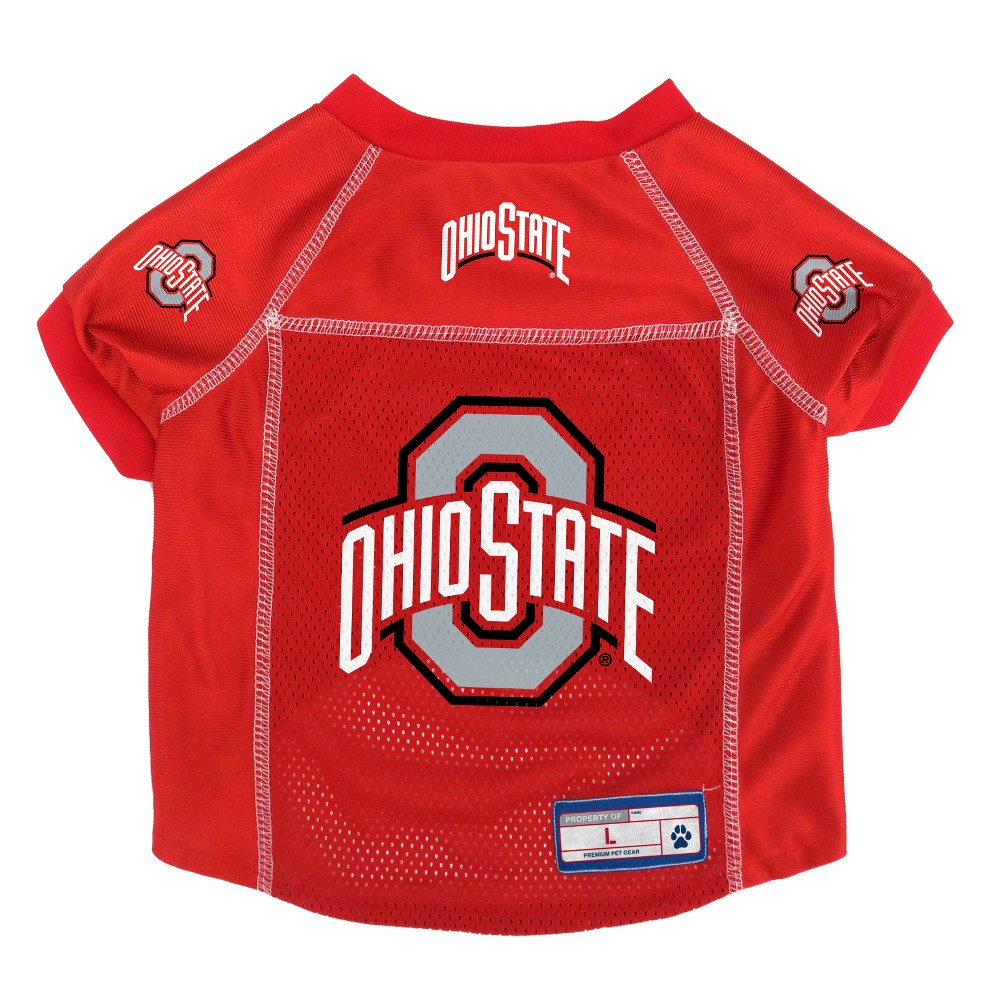 Ohio State Buckeyes Little Earth Pet Football Jersey - XL, Multicolored