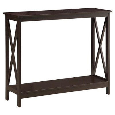 Oxford Console Table Espresso - Espresso - Convenience Concepts