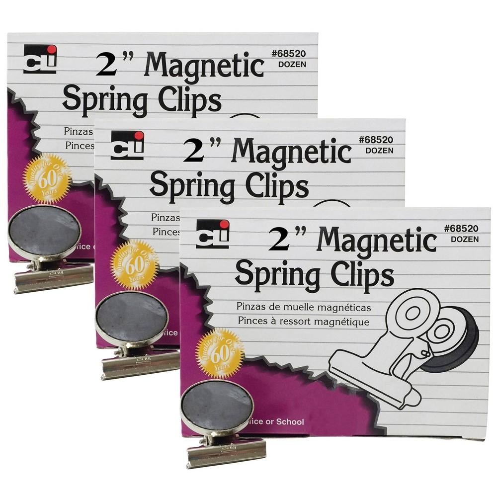 36ct 2 34 Magnetic Spring Clips Charles Leonard