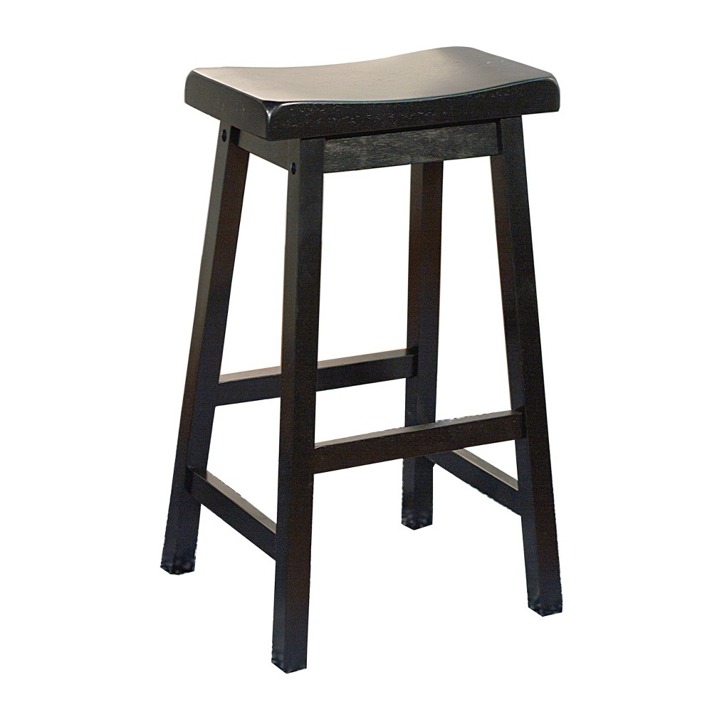 "Image of ""24"""" Arizona Saddle Stool Black - Buylateral"""