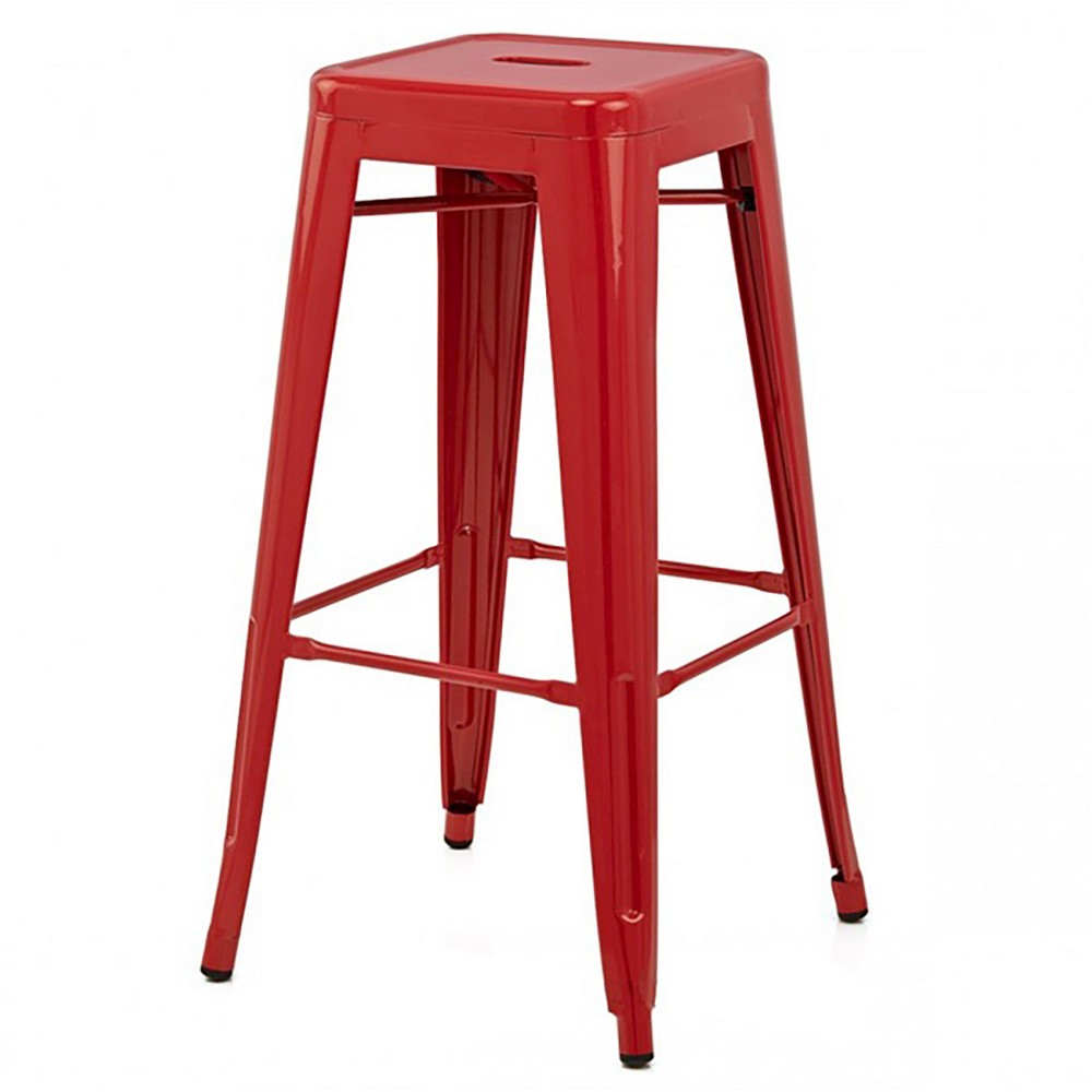 "Image of ""26"""" Galaxy Counter Stool Steel/Red (Set of 2) - Aeon"""