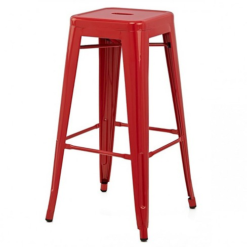 Galaxy 26 Quot Quot Counter Stool Steel Red Set Of 2 Aeon Target