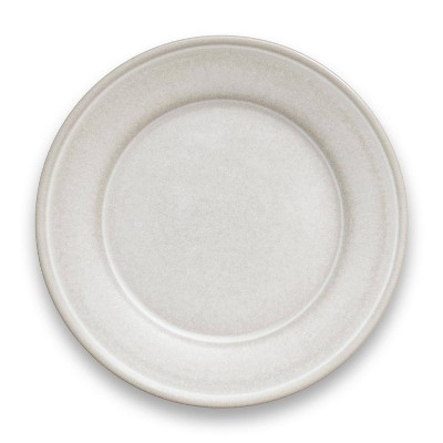 "10.5"" Melamine and Bamboo Dinner Plate White - Threshold™"