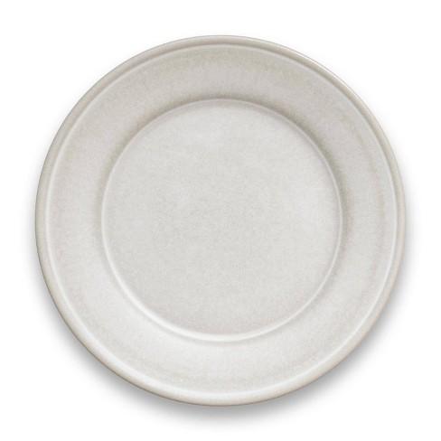 "10.5"" Melamine and Bamboo Dinner Plate White - Threshold™ - image 1 of 4"