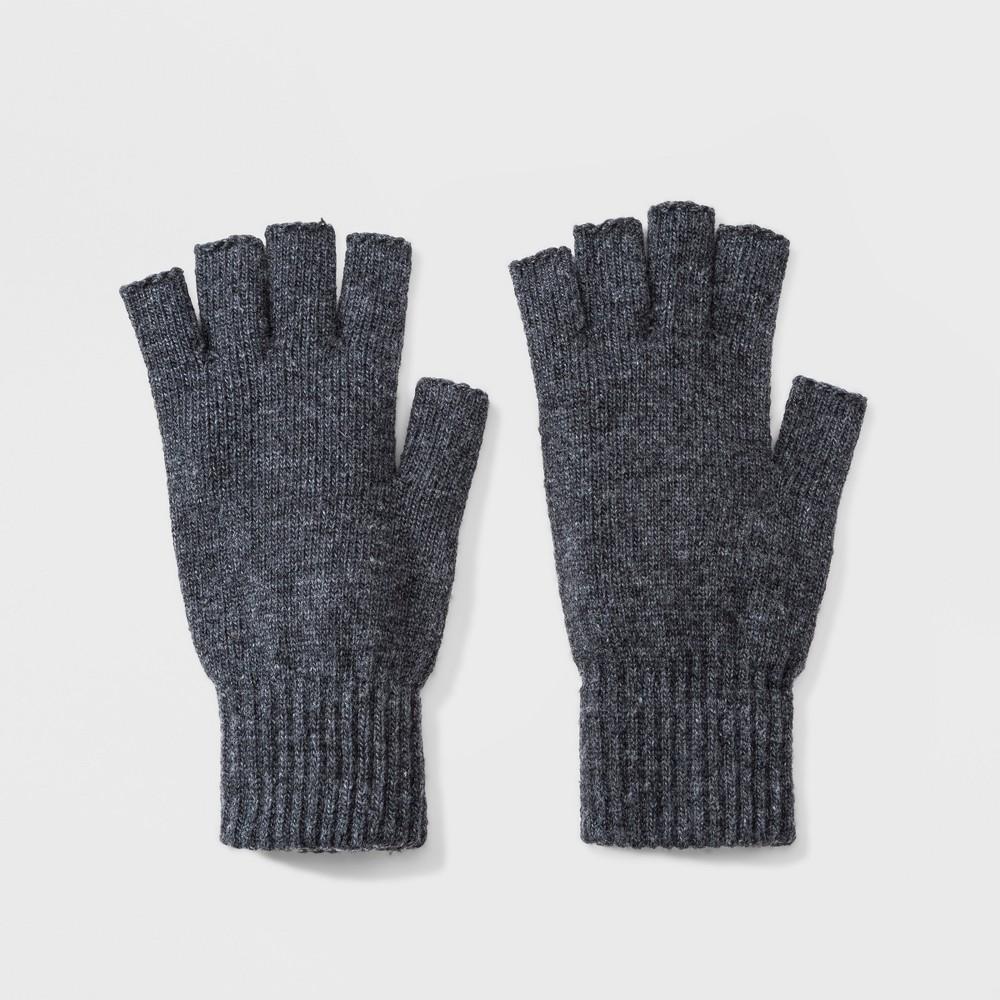 Men's Repreve Fingerless Gloves - Goodfellow & Co Gray One Size