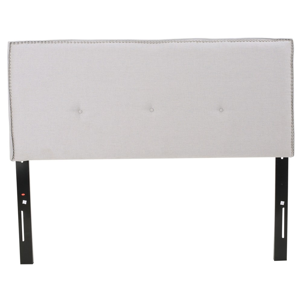 Mattea Upholstered Headboard Full/Queen Light Gray - Christopher Knight Home