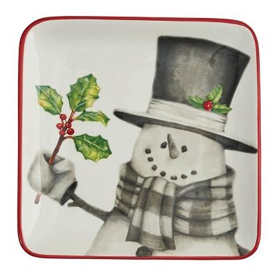 Park Designs Sketchbook Snowman Salad Plate Set - White