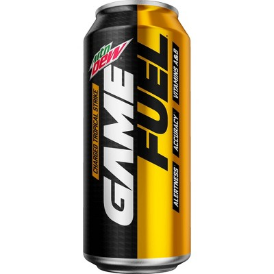 Mountain Dew AMP Game Fuel Charged Tropical Strike - 16 fl oz Can
