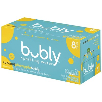 bubly Coconut Pineapple Sparkling Water - 8pk/12 fl oz Cans