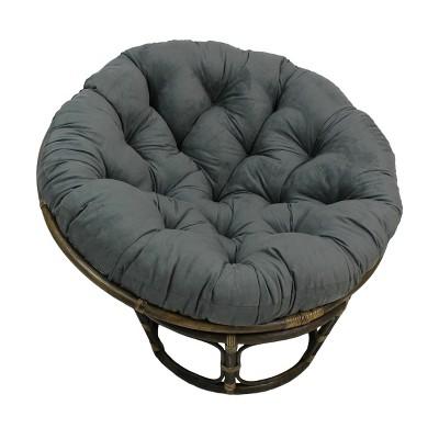 "42"" Rattan Papasan Chair with Micro Suede Cushion Gray - International Caravan"