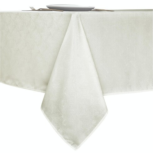 Kate Aurora Diamond Textured Spill And Stain Proof All Purpose Fabric Tablecloth - image 1 of 4