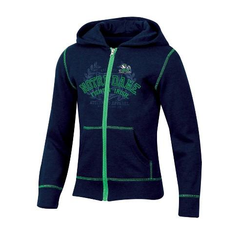 Notre Dame Fighting Irish Girls' Long Sleeve Full Zip Hoodie - image 1 of 1