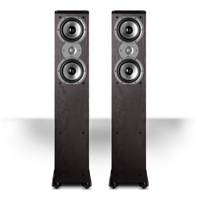 """Polk Audio TSi300 3-Way Tower Speakers with Two 5-1/4"""" Drivers - Pair (Black)"""