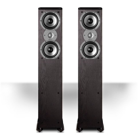 """Polk Audio TSi300 3-Way Tower Speakers with Two 5-1/4"""" Drivers - Pair (Black) - image 1 of 2"""