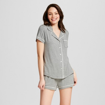 Women's 2pc Pajama Set - Gilligan & O'Malley™ Medium Heather Gray XL