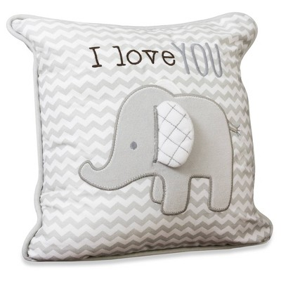 Wendy Bellissimo Elephant 'I Love You' Pillow