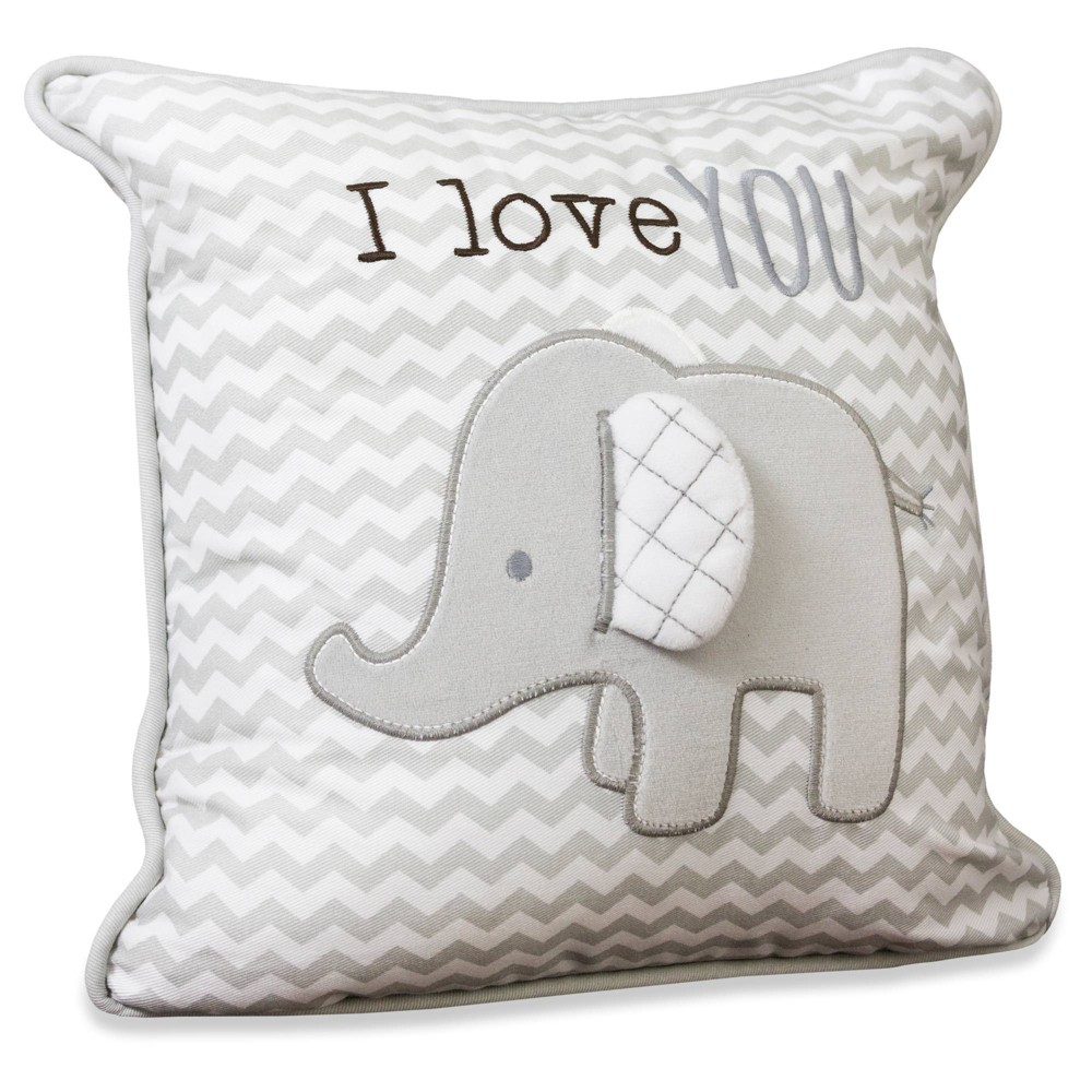 Image of Wendy Bellissimo Elephant 'I Love You' Pillow