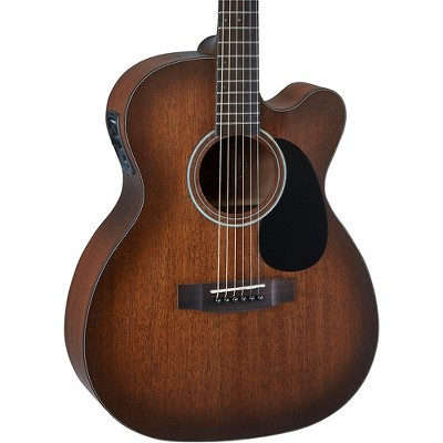 Mitchell T333CE-BST Solid Top Mahogany Auditorium Acoustic-Electric Guitar Edge Burst