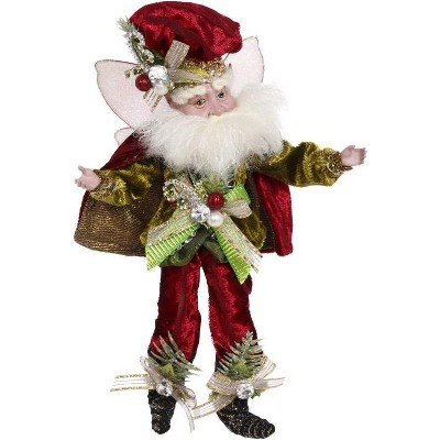 """Mark Roberts Products 10"""" White and Red Luxe Lodge Christmas Fairy Figure"""