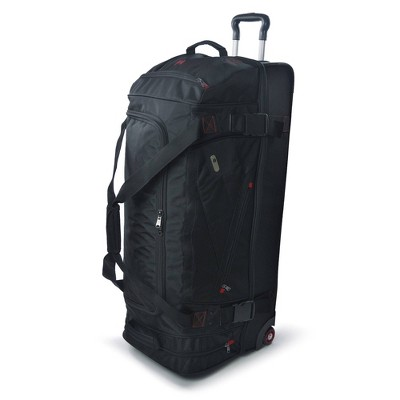 """FUL Tour Manager 36"""" Rolling Duffel Bag - Black"""