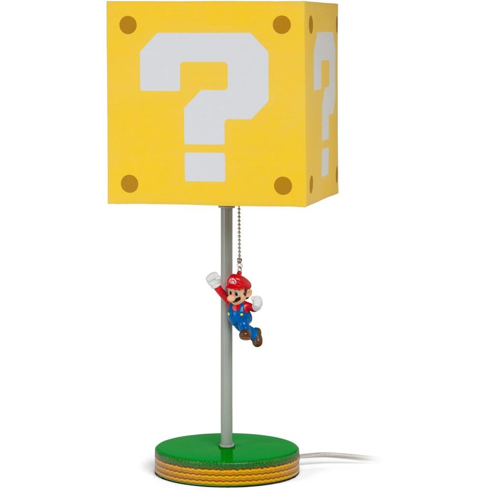 "Image of ""14"""" Nintendo Super Mario Block Table Lamp"""