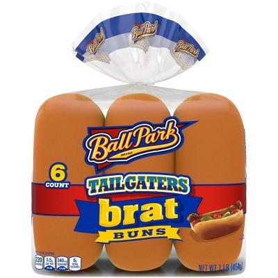 Ball Park Tailgater Brat Buns - 1lbs/6pk