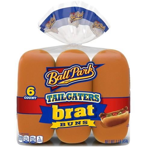 Ball Park Tailgater Brat Buns - 1lbs/6pk - image 1 of 4