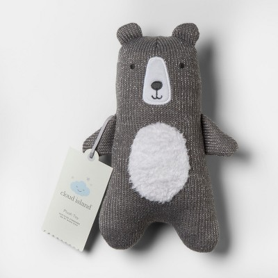 Plush Knit Bear - Cloud Island™ Gray