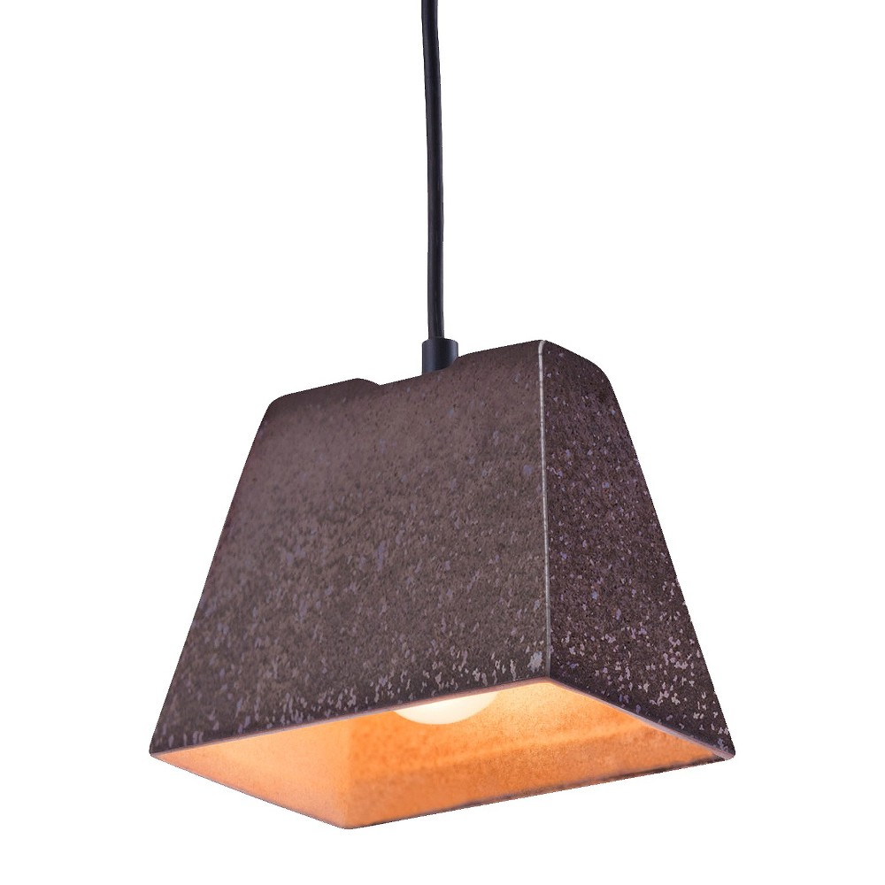 Distressed Antique Black 5 Pendant Ceiling Lamp - ZM Home