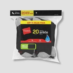Hanes Men's Ankle Super Value Socks 20pk - 6-12