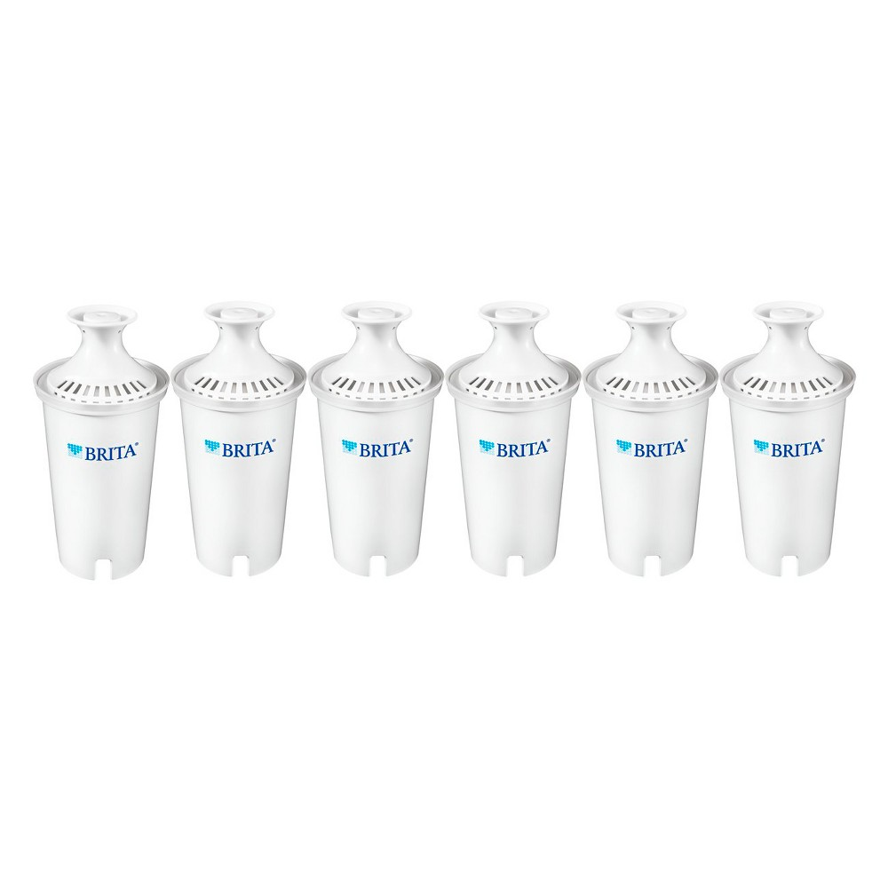 Image of Brita Standard BPA Free Replacement Water Filters for Pitchers and Dispensers - 6ct