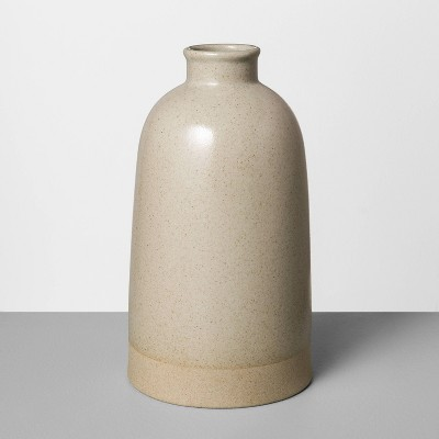 "10"" Large Stoneware Vase Gray - Hearth & Hand™ with Magnolia"