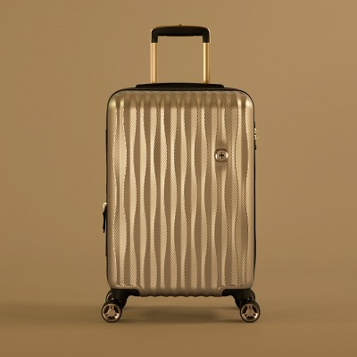 SwissGear Energie USB Port PolyCarb Hardside 20  Carry On Suitcase - Gold