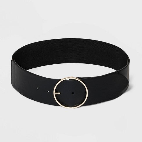 Women's Wide Belts - A New Day™ Black - image 1 of 2