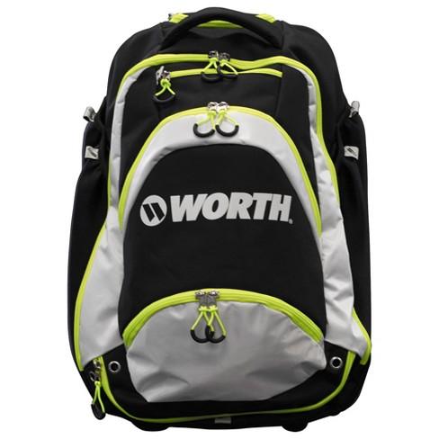 Worth XL Baseball Softball Wheeled Backpack Bat Bag - Black Green ... 76e9f0ad1018