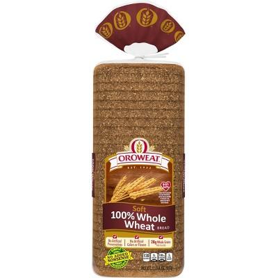 Oroweat 100% Whole Wheat Soft Bread - 20oz