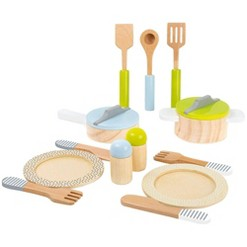 Small Foot Wooden Toys Dining and Cutlery Playset - 15pc