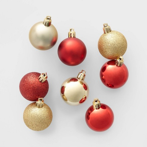 24ct 40mm Christmas Ornament Set Red and Gold - Wondershop™ - image 1 of 2