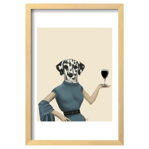 "Dalmatian Wine Snob By Fab Funky Framed Poster 13""X19"" - Art.Com - image 1 of 4"