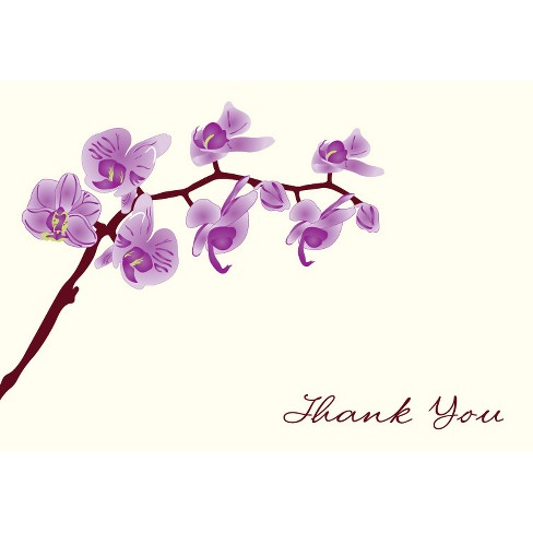 50ct Thank You Cards with Orchids Design - image 1 of 1