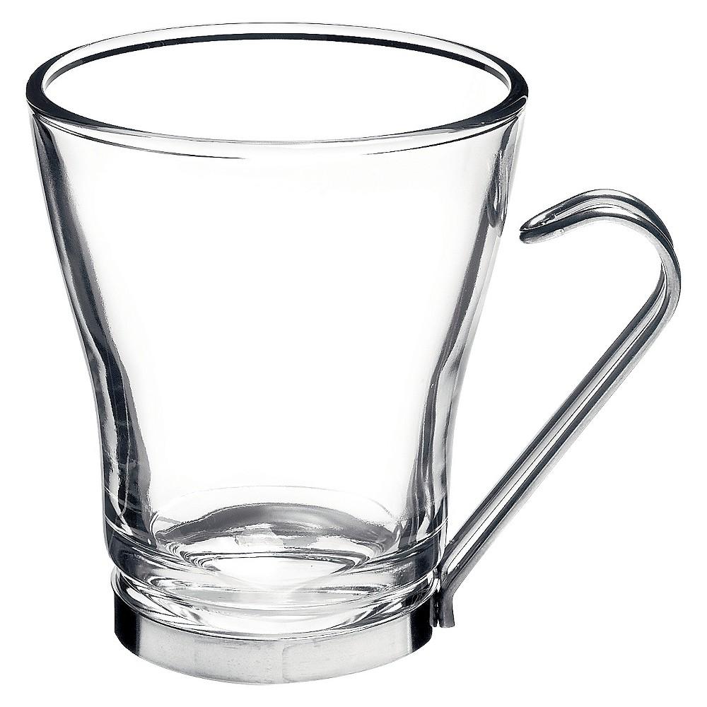 Image of Bormioli Rocco Oslo Cappuccino Cup 7.5oz Set of 4, Clear