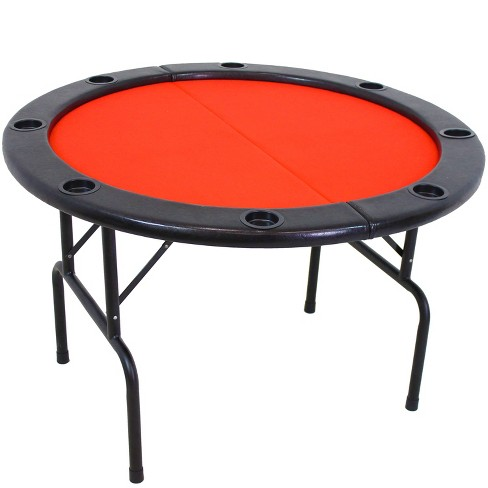 6 Player Round Folding Poker Table Sunnydaze Decor Target