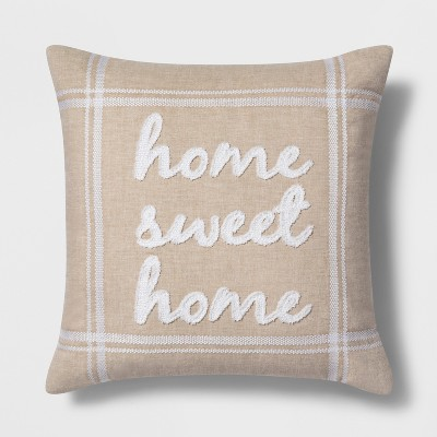 Home Sweet Home Square Throw Pillow Neutral - Threshold™