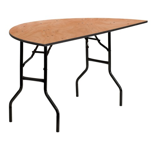 Flash Furniture 5-Foot Half-Round Wood Folding Banquet Table - image 1 of 3