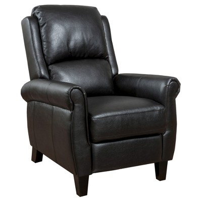 Haddan Faux Leather Recliner Club Chair Black - Christopher Knight Home
