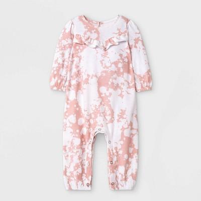 Grayson Mini Baby Girls' Jersey Tie-Dye Romper - Light Pink