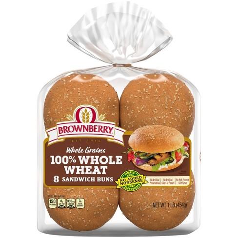 Brownberry 100% Whole Wheat Hamburger Buns - 16oz - image 1 of 4