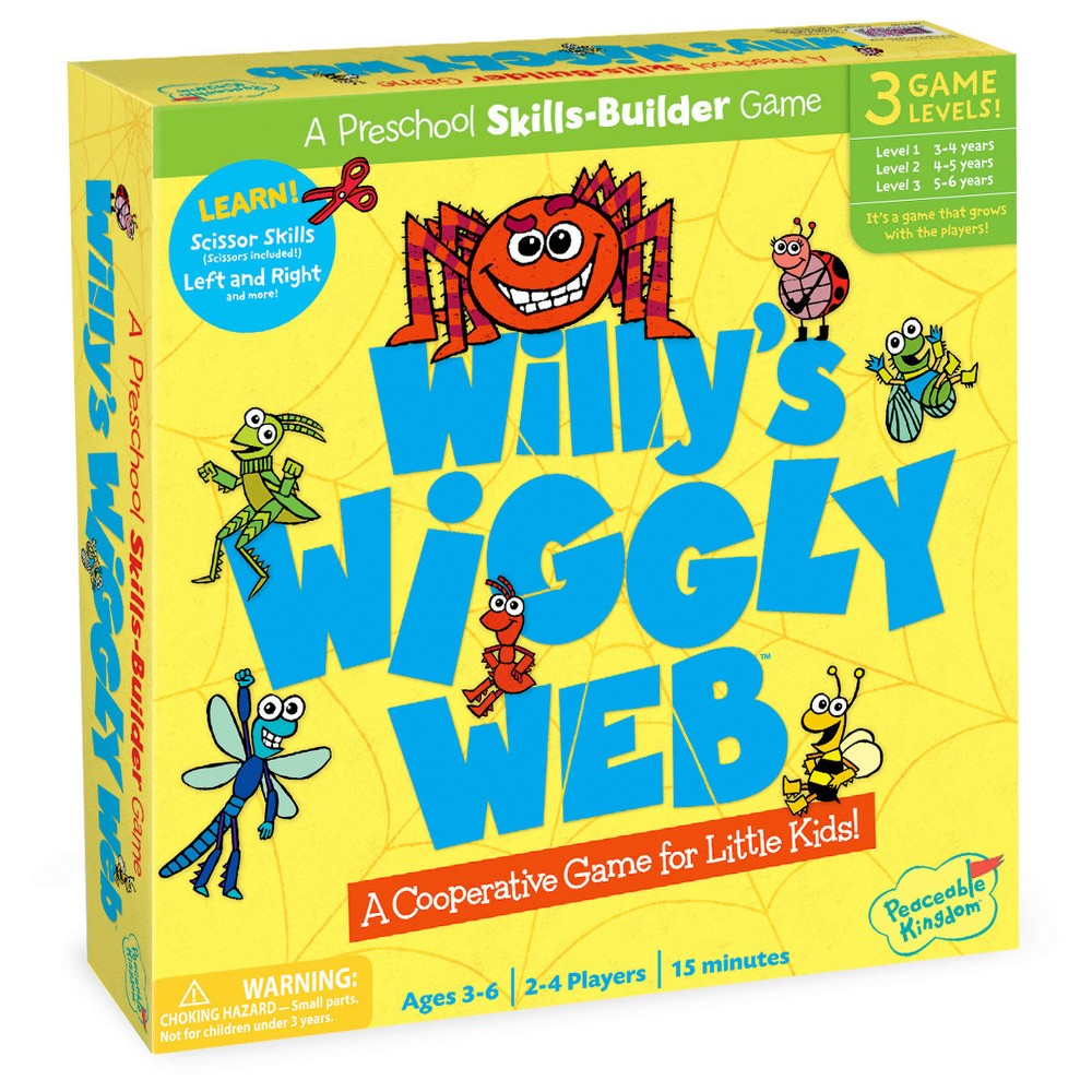 Willy's Wiggly Web A Wiggly Wobbly Cutting Game